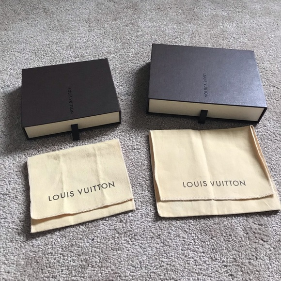 Authentic Louis Vuitton dust bag and box